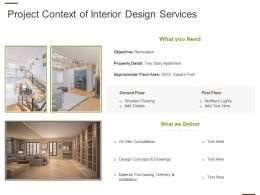 Project Context Of Interior Design Services Ppt Powerpoint Guide