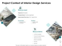 Project Context Of Interior Design Services Ppt Powerpoint Presentation Icon Samples