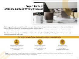 Project Context Of Online Content Writing Proposal Ppt Powerpoint Icon