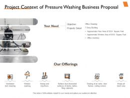 Project Context Of Pressure Washing Business Proposal Powerpoint Presentation Slide