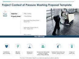 Project Context Of Pressure Washing Proposal Template Ppt Powerpoint Styles