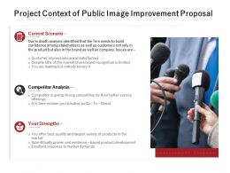 Project Context Of Public Image Improvement Proposal Powerpoint Presentation Tips