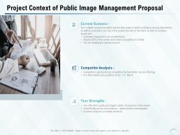 Project Context Of Public Image Management Proposal Ppt Powerpoint Presentation Portfolio