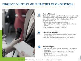 Project Context Of Public Relation Services Ppt Powerpoint Presentation Ideas Deck