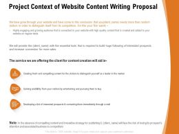 Project Context Of Website Content Writing Proposal Ppt Powerpoint Presentation Professional Shapes