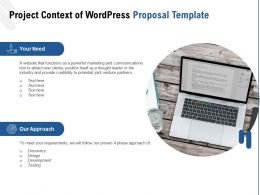 Project Context Of WordPress Proposal Template Ppt Powerpoint Presentation Professional Grid