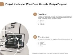 Project Context Of Wordpress Website Design Proposal Ppt Slides