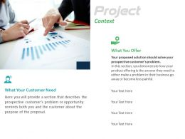 Project Context Offering Ppt Powerpoint Presentation Model Microsoft