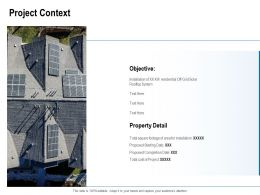 Project Context Ppt Powerpoint Presentation Ideas Examples