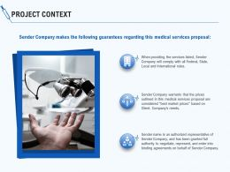 Project Context Ppt Powerpoint Presentation Portfolio Example