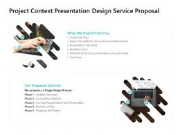 Project Context Presentation Design Service Proposal Ppt Powerpoint