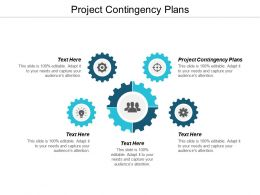 Project Contingency Plans Ppt Powerpoint Presentation Infographic Template Icons Cpb