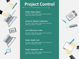 Project Control Ppt Infographics Portrait