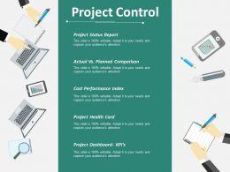 Project Control Ppt Infographics Portrait