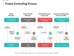 Project Controlling Process Ppt Powerpoint Presentation Summary Shapes