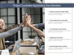 Project Coordinator Appreciating Team Members