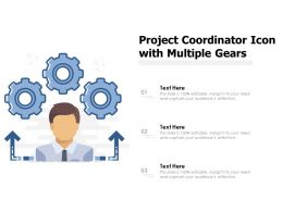Project Coordinator Icon With Multiple Gears