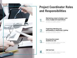 Project Coordinator Roles And Responsibilities
