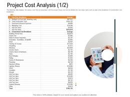Project Cost Analysis Construction Ppt Powerpoint Presentation Slides File Formats