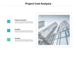 Project Cost Analysis Ppt Powerpoint Presentation Icon Professional Cpb