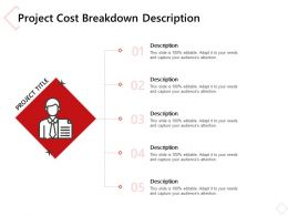 Project Cost Breakdown Description Ppt Powerpoint Presentation Infographic Template Ideas