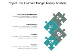 Project Cost Estimate Budget Quality Analysis Marketing Attack Strategies Cpb
