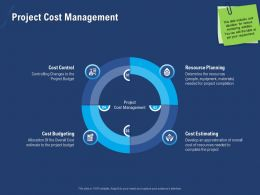 Project Cost Management Approximation Ppt Powerpoint Presentation File Icon
