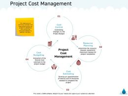 Project Cost Management Materials M1353 Ppt Powerpoint Presentation Model Background Images