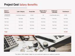 Project Cost Salary Benefits Ppt Powerpoint Presentation Visual Aids Deck
