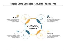 Project Costs Escalates Reducing Project Time Ppt Powerpoint Presentation Professional Graphics Cpb