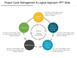 Project Cycle Management And Logical Approach Ppt Slide
