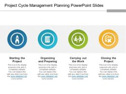 Project Cycle Management Planning Powerpoint Slides