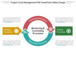 Project Cycle Management Pmi Powerpoint Slides Design