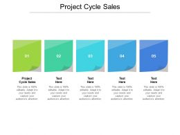 Project Cycle Sales Ppt Powerpoint Presentation File Display Cpb
