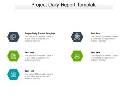 Project Daily Report Template Ppt Powerpoint Presentation Infographics Information Cpb