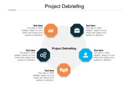 Project Debriefing Ppt Powerpoint Presentation Icon Deck Cpb