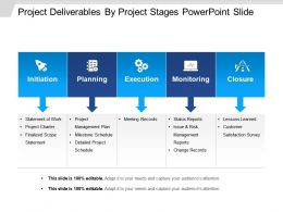 Project Deliverables By Project Stages Powerpoint Slide
