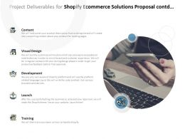 Project Deliverables For Shopify Ecommerce Solutions Proposal Contd Ppt Powerpoint Presentation