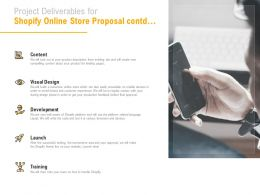 Project Deliverables For Shopify Online Store Proposal Contd Ppt Powerpoint Presentation Show Icon