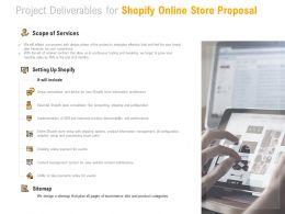 Project Deliverables For Shopify Online Store Proposal Ppt Powerpoint Presentation Portfolio Model