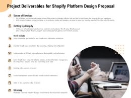 Project Deliverables For Shopify Platform Design Proposal Ppt Powerpoint Presentation Model