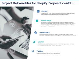 Project Deliverables For Shopify Proposal Contd Ppt Powerpoint Presentation Summary