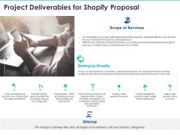 Project Deliverables For Shopify Proposal Ppt Powerpoint Presentation Inspiration