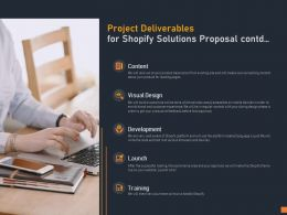 Project Deliverables For Shopify Solutions Proposal Contd Ppt Powerpoint Presentation