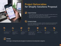 Project Deliverables For Shopify Solutions Proposal Ppt Powerpoint Presentation Summary