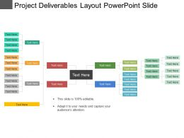 Project Deliverables Layout Powerpoint Slide