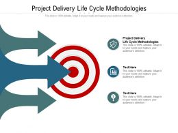 Project Delivery Life Cycle Methodologies Ppt Powerpoint Presentation File Graphic Tips Cpb