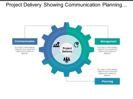 Project Delivery Showing Communication Planning And Management
