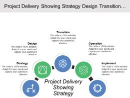 Project Delivery Showing Strategy Design Transition Operation And Improvement