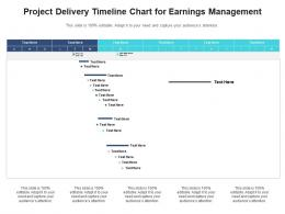Project Delivery Timeline Chart For Earnings Management Infographic Template